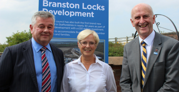 LEP and partners celebrate Branston Locks road scheme completion