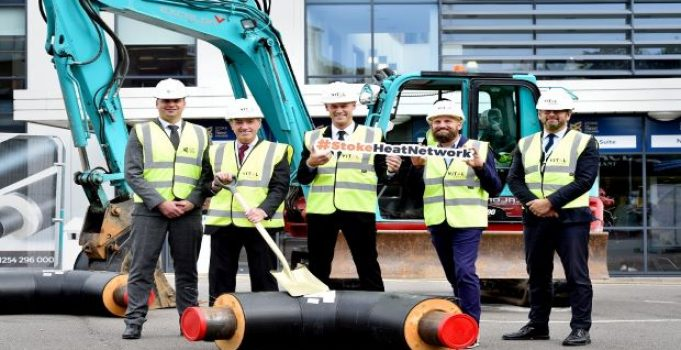 Students learn latest construction skills as second phase of pioneering heat network gets under way