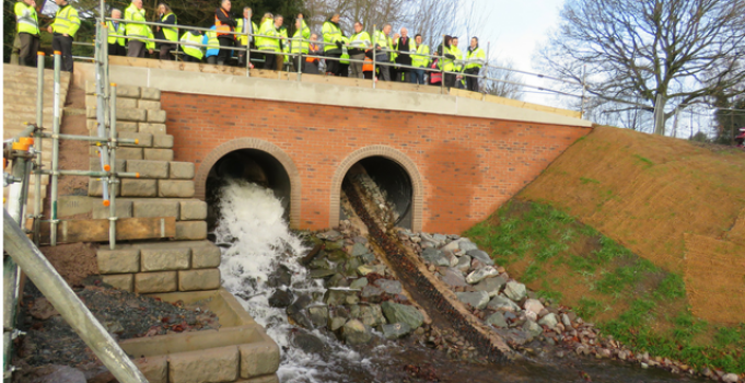 Rugeley flood scheme wins sustainability award