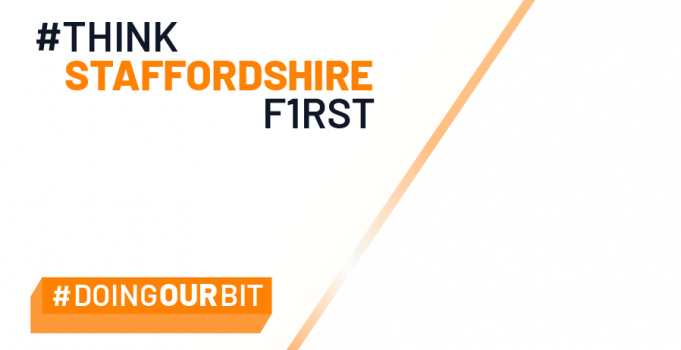 Join the 'Stay safe, shop local' call with #ThinkStaffordshireFirst