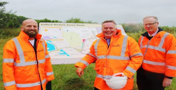Partners mark start of works for major new LEP-funded road scheme