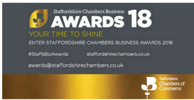 We're proud to sponsor the Staffordshire Chambers Business Awards 2018
