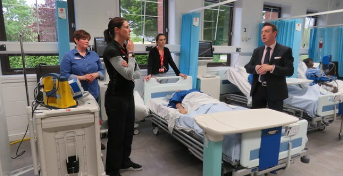 Specialist suite takes nurse training to new levels at Staffordshire University